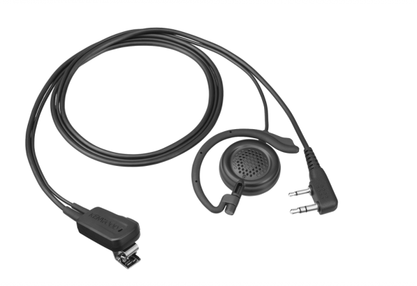 Kenwood EMC-12W Security Headset mit Ohrbügelhörer und Clipmikrofon